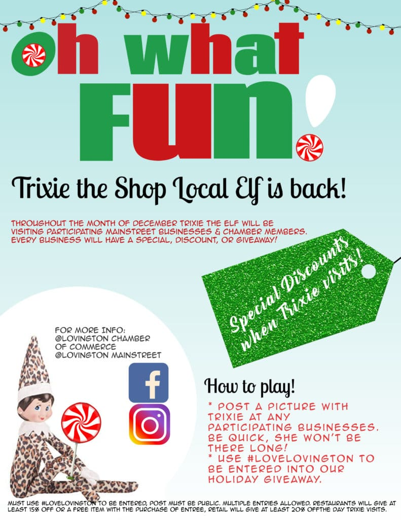 Trixie the Shop Local Elf is back!
